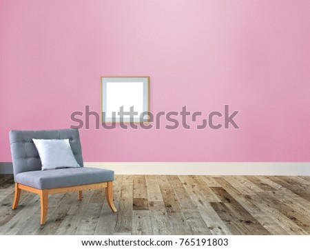 Empty Living Room Interior Decoration Wooden Stock Illustration ...
