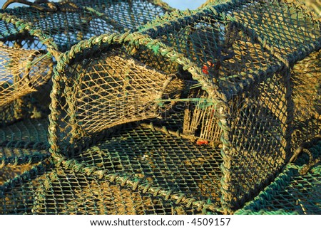 Empty Lobster net, Amble Harbour, Northumberland