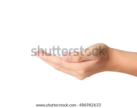 Empty Man hand sign isolated