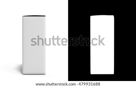 empty medical  box with an alpha channel 3d illustration isolated on white