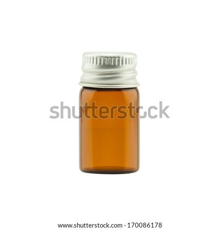 Empty medicine bottle isolated on white background