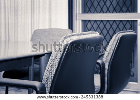 Empty meeting conference room interior. - stock photo
