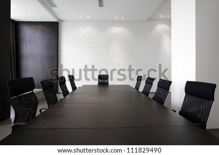 Empty meeting room - stock photo