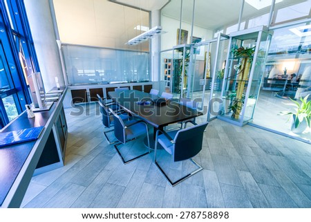 Empty meeting room in a modern office. - stock photo