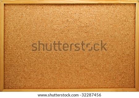 Empty memo board on white background - stock photo