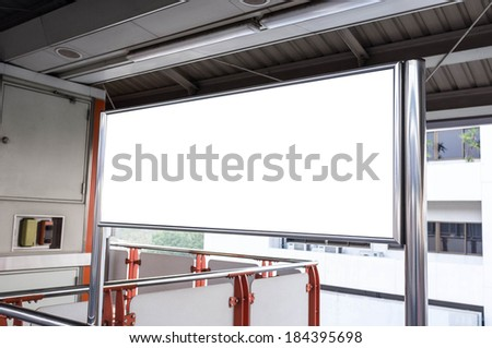 empty message board in train station - stock photo