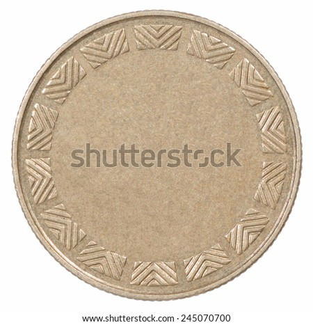 Empty net bronze coin - stock photo