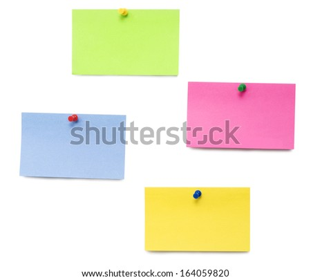 empty notes isolated over white background