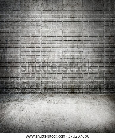 Empty of black room background - brick wall texture