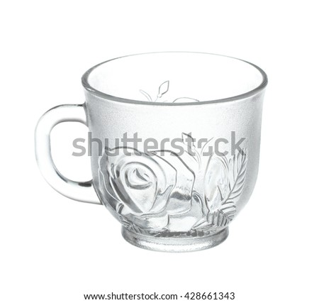 empty of cup glass Isolated on White Background