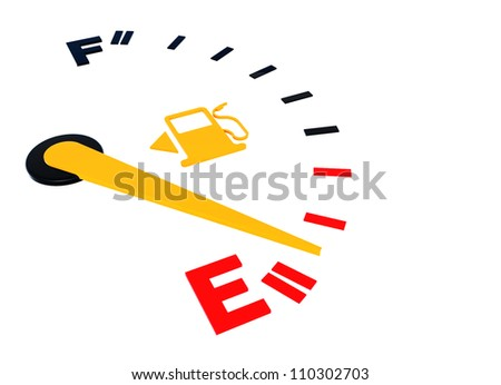 Empty of gas scale to created by three dimensional software