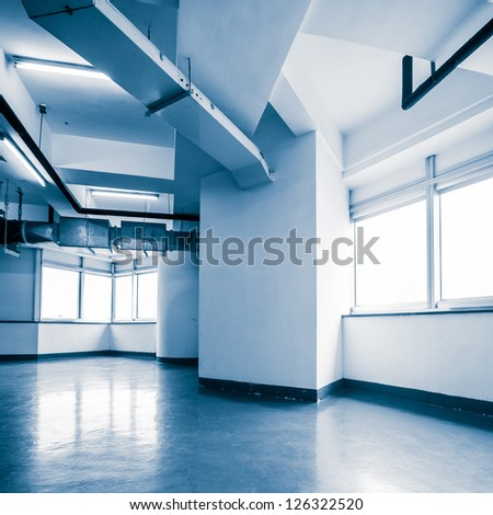 empty office in the modern office building - stock photo