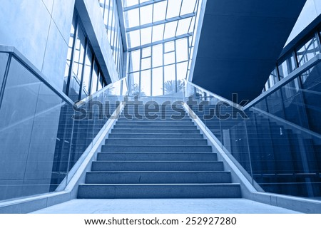 empty office stairs - stock photo