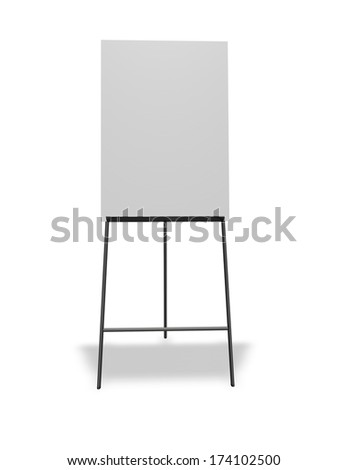 empty office stand board isolated with blank copy space for any message presentation - stock photo