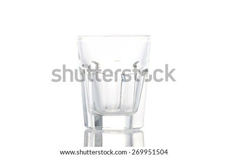 Empty old fashion tumbler