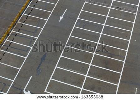 Empty outdoor car park - stock photo