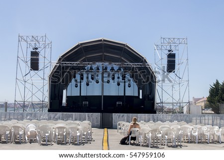 Empty Outdoor Concert Stage On Sunny Stock Photo 547959106 ...