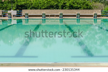 Empty outdoor swimming pool