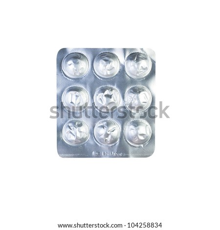 Empty pack of medicine on white background - stock photo
