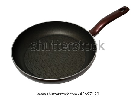 Empty pan isolated on the white background