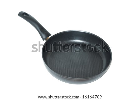 Empty pan isolated on white.