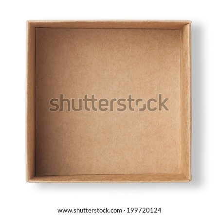empty paper box - stock photo