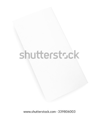 Empty paper brochure on isolated white background