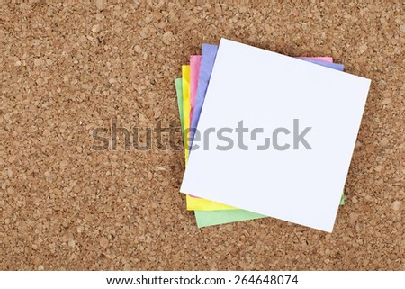 Empty Paper on Cork Bulletin Board - stock photo