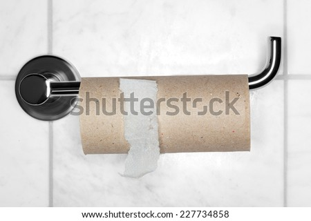 Empty paper roll - stock photo