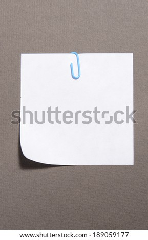 Empty paper sheet on grey background