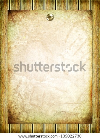 Empty paper sheet on wooden surface
