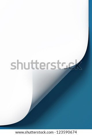 Empty paper sheet with blue background