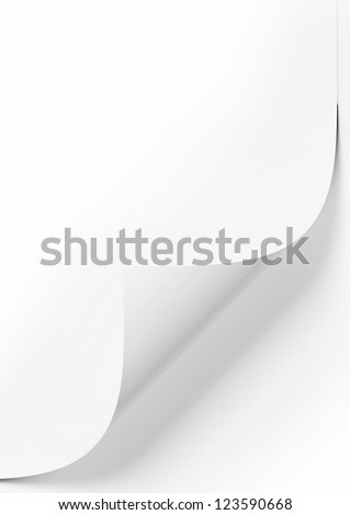 Empty paper sheet with white background