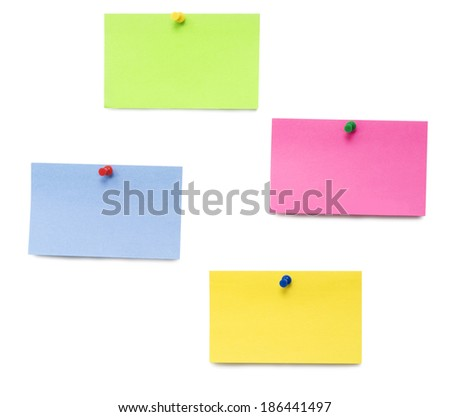 empty papers isolated over white background