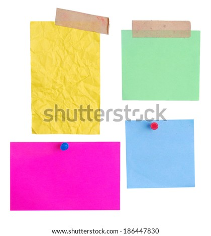empty papers over white background