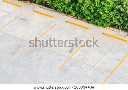 Empty parking - stock photo