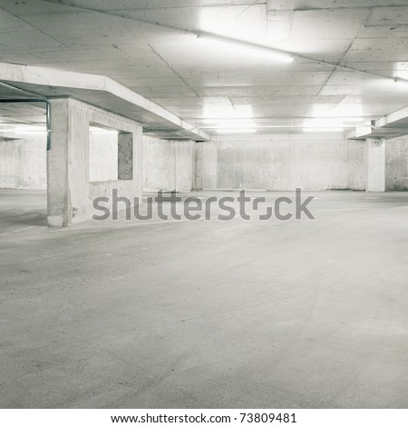 Empty parking area, can be used as background - stock photo