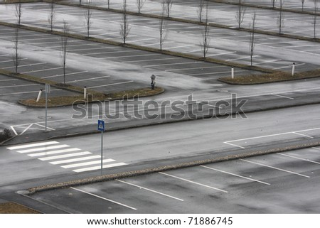 empty parking place - stock photo