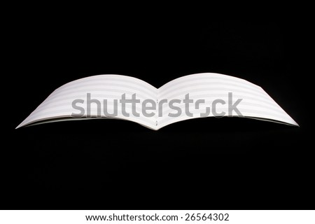 empty partiture book