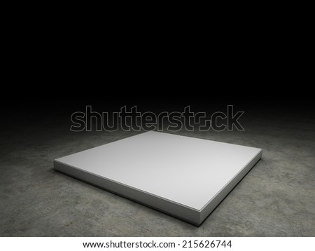 empty pedestal to place your product. With clipping path - stock photo