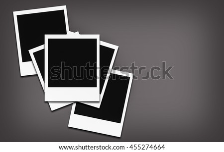 Empty photo frame- grey color background