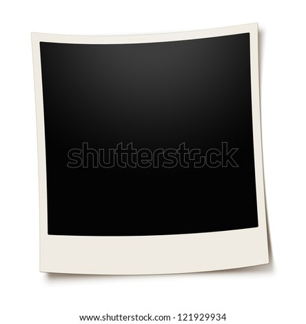 Empty photo frame - isolated on white background - stock photo