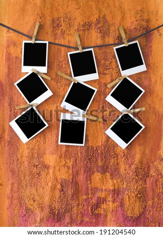 empty photo /  picture frames, instant pictures, free pics / copy space  - stock photo