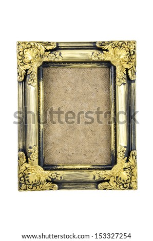 empty picture frame isolated on white background - stock photo
