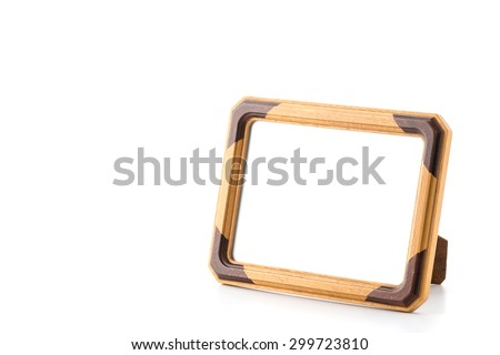 empty picture frame on white