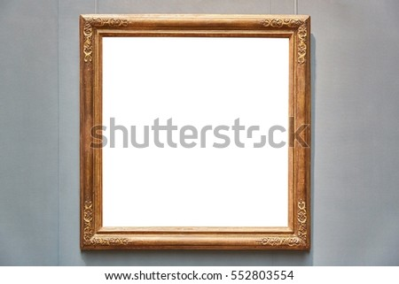 Empty picture frame on white background