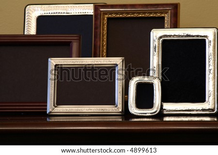 Empty picture frames - stock photo
