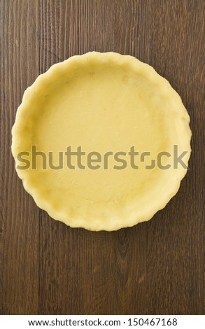 Empty pie shell crust