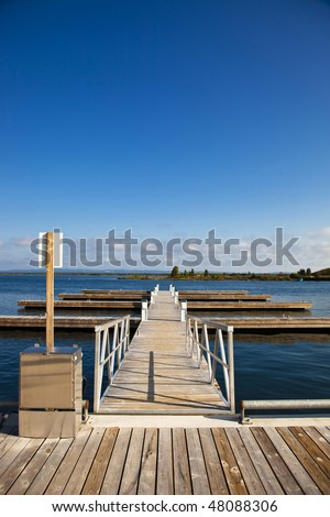 Empty Pier at Marina - stock photo