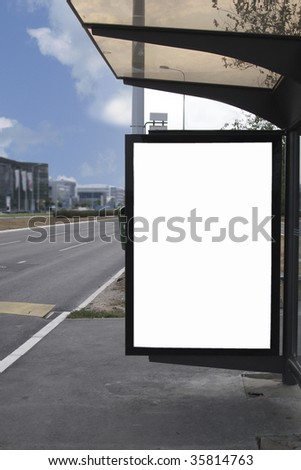 empty place for advertising - stock photo